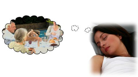 Woman dreaming about her sister Stock Video Footage