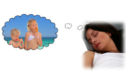 Woman dreaming about her children Animation