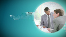 Animated discs about business Stock Video Footage