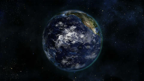 Earth turning on itself with moving clouds with Earth image courtesy of Nasa.org Footage