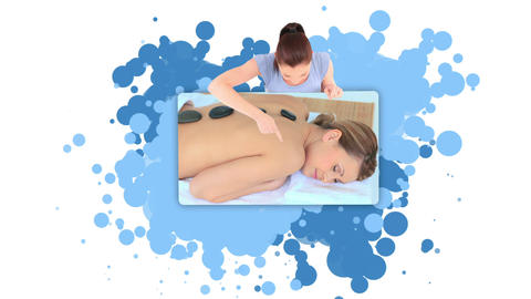 Woman showing a woman relaxing Stock Video Footage