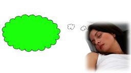 Brunette woman sleeping Animation