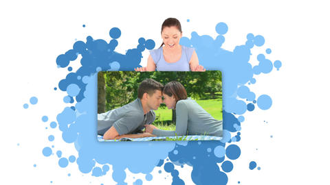 Woman showing a couple spending time together Stock Video Footage