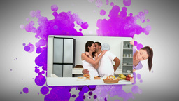 Woman showing an in love couple at home Stock Video Footage