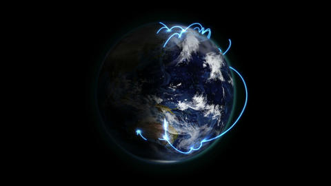 Shaded and cloudy Earth with image courtesy of Nas Stock Video Footage