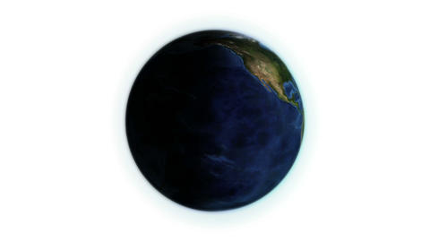 Earth with shadow in movement with Earth image cou Animation
