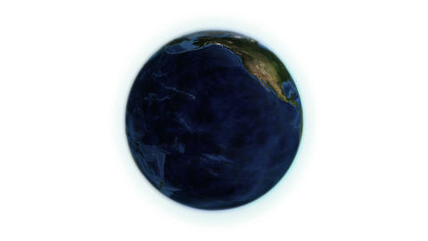 Earth turning on itself with Earth image courtesy  Animation