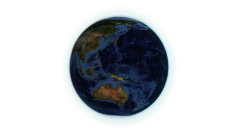 Earth turning on itself with Earth image courtesy Stock Video Footage