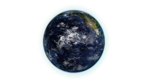 Earth in movement with moving clouds with source i Animation