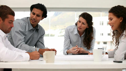 Business people working together during a meeting Stock Video Footage