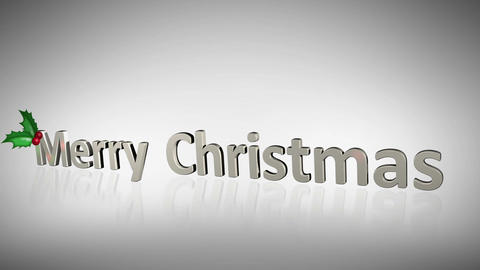 Merry Christmas animation about family having fun Stock Video Footage