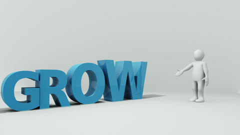 Ascending letters spelling the word growth beside  Animation