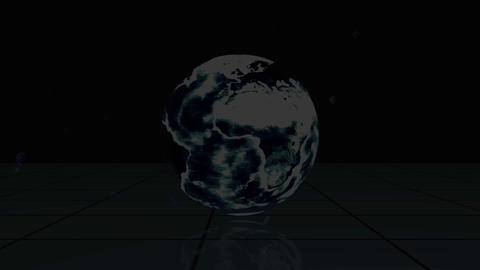 Videos appear from behind a rotating earth with Ea Stock Video Footage