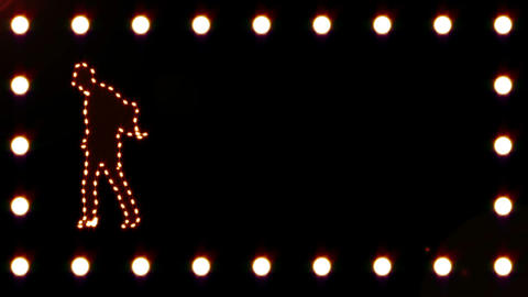 Silhouette of a man dancing while a video appears Stock Video Footage