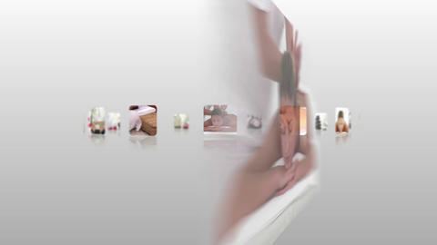 Hand choosing clips about women relaxing Animation