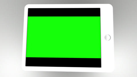 Animated tablet computer showing business Animation
