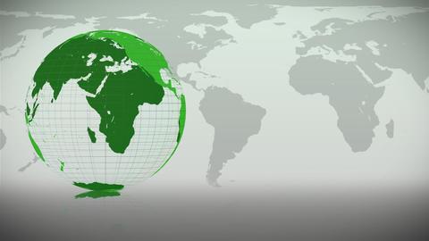 Green Earth turning on itself Animation