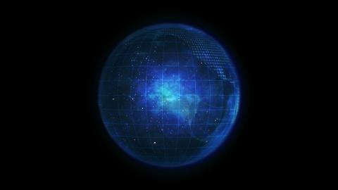 Blue Earth turning on itself Animation