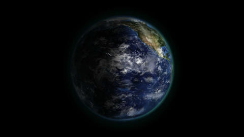 Shaded Earth with moving clouds in with Earth imag Animation
