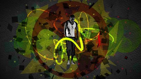 Young man dancing hip hop Animation