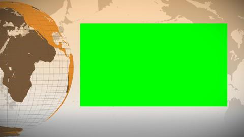 Orange Earth turning on itself Animation