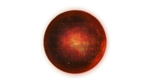 Animated orange planet globe in movement Animation