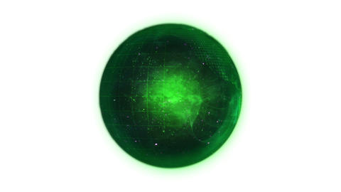 Animated green planet globe in movement Animation