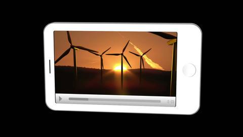 Smartphone showing renewable energies Stock Video Footage