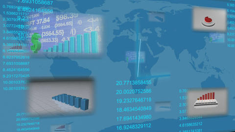 Animated financial statistics Animation