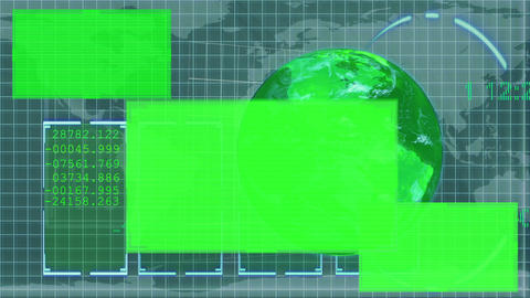 Animated green Earth displaying copy spaces Animation