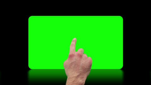 Hand activating copy spaces on touch screen Animation