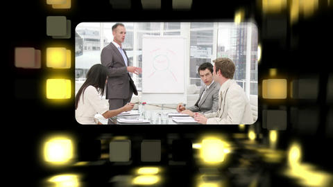 Montage about business meetings Stock Video Footage