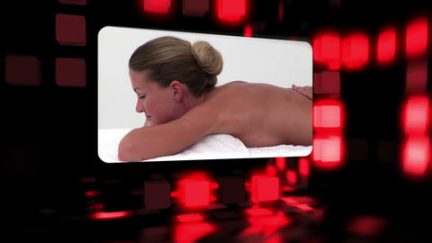 Women relaxing in a spa Animation