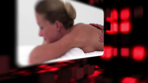 Women relaxing in a spa Stock Video Footage