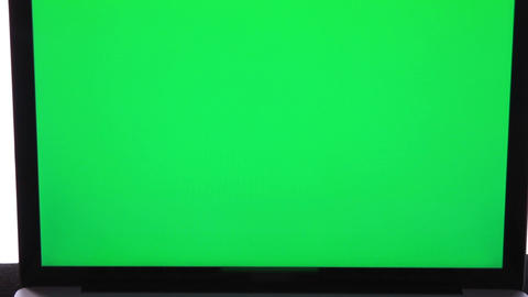0154 Laptop Green Screen stock footage