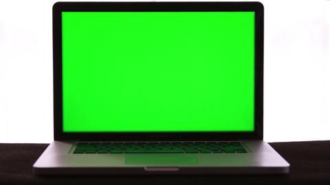 Laptop Green Screen Stock Video Footage