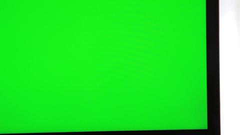 Laptop Green Screen stock footage