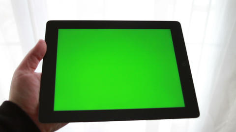 Tablet with Green Screen Footage