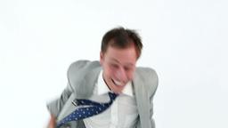 Joyful man showing his happiness Stock Video Footage