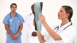 Doctor examining an Xray scan Stock Video Footage