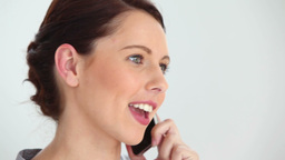 Business woman using a cellphone Stock Video Footage