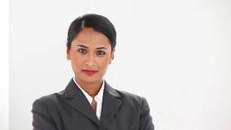 Beautiful businesswoman posing Footage