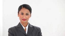Beautiful businesswoman posing Stock Video Footage