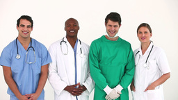 Hospital team standing together Stock Video Footage
