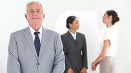 Businessman in suit posing Footage