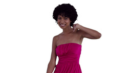 Woman dancing with one arm raised Footage