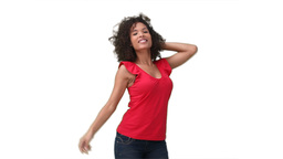 Woman dancing happily Footage