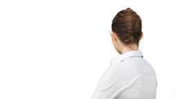 Business woman turning around Stock Video Footage