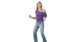 Woman in casual clothing dancing Stock Video Footage