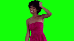 Woman dancing with her arm raised Stock Video Footage